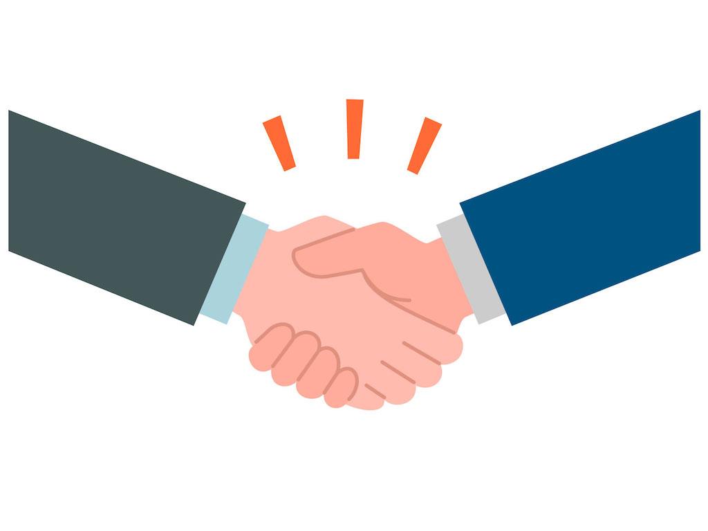 滋賀県のホームページ制作会社とタッグを組むための握手