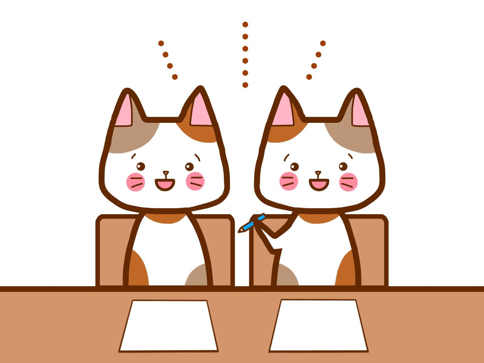 滋賀県ホームページ制作で必要なコミュニケーションをとる猫