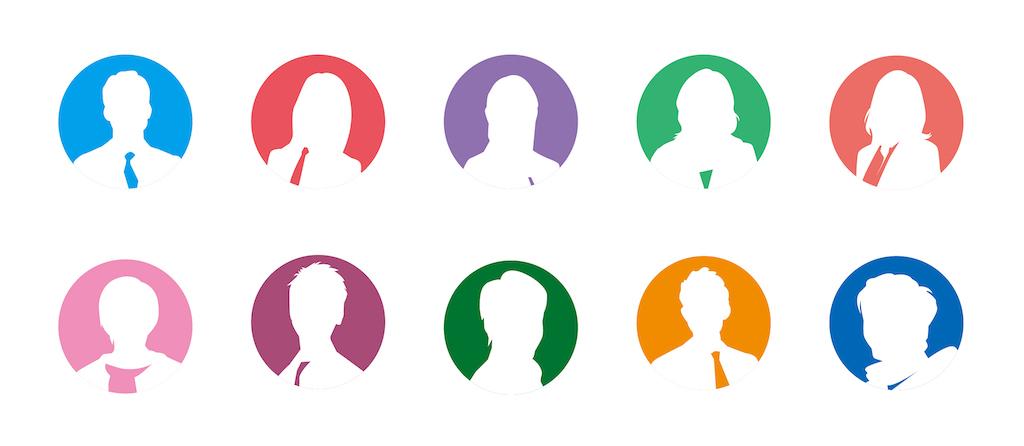 webのターゲットとなる多種多様な人物